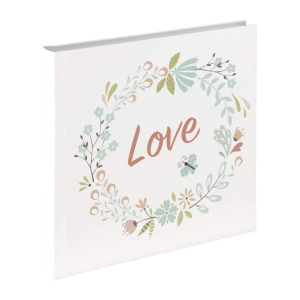 Virágos Love Instax Vendégkönyv, fotóalbum, scrapbook - Fehér